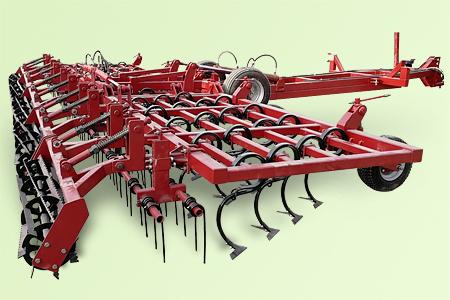 Культиватор для сплошной обработки почвы прицепной КПМ-8 КПМ-10 КПМ-12
